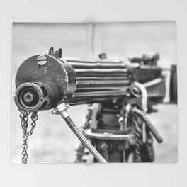 Vickers Machine Gun Throw Blanket