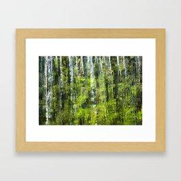 CASCADING WATER Framed Art Print