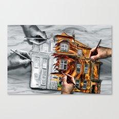 Hinter den Kulissen  Canvas Print