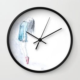 Ballerina On Pointe Wall Clock