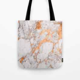 Copper Marble Tote Bag