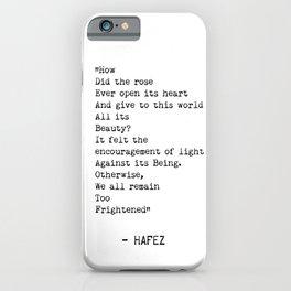 Hafez quote 3 iPhone Case
