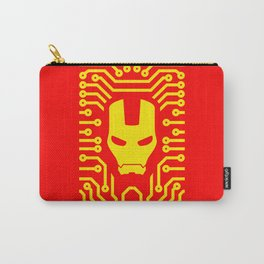 Iron Pattern (Yellow) Carry-All Pouch
