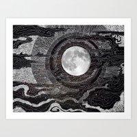 lights Art Prints featuring Moon Glow by brenda erickson