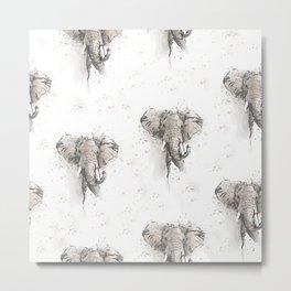 Elephants pattern Metal Print