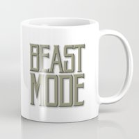 depeche mode Mugs featuring Beast Mode by Art Lahr