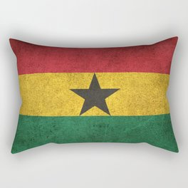 Old and Worn Distressed Vintage Flag of Ghana Rectangular Pillow
