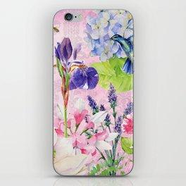 English Garden pink iPhone Skin
