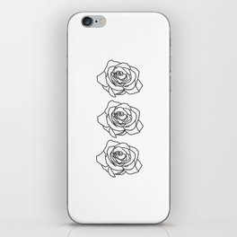 Rose Noire iPhone Skin