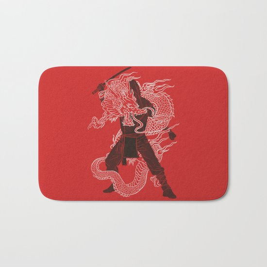 Dragon Ninja Bath Mat