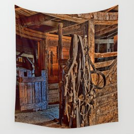 Draft Horse Harness Wall Tapestry