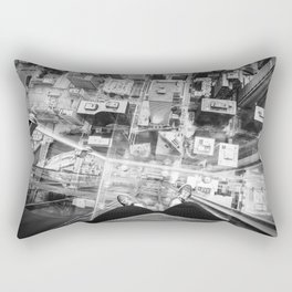 Chicago from the top Rectangular Pillow