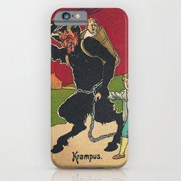 Krampus with his victim iPhone Case