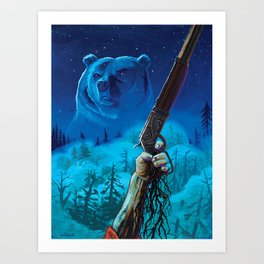 Them Wicked Woods Art Print