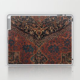 Boho Chic Dark VII // 17th Century Colorful Medallion Red Blue Green Brown Ornate Accent Rug Pattern Laptop & iPad Skin