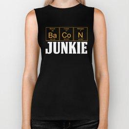 BACON JUNKIE Teachers Assistant Design  Biker Tank