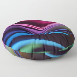 Colorful Modern Rainbow Bright Papers Cool Photo Floor Pillow