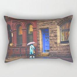New York City Rainy Afternoon Rectangular Pillow