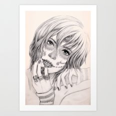 Sugar Skull Girl 2 Art Print