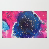 mars Area & Throw Rugs featuring Mars by Heather Plewes Art