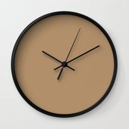 ICED COFFEE PANTONE 15-1040 Wall Clock
