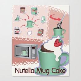 Nutella Mug Cake Canvas Print