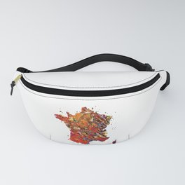 France Map Fanny Pack