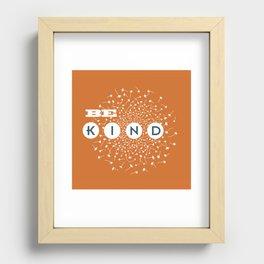 Be Kind (orange/blue) Recessed Framed Print