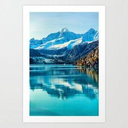 Alaska Glacier bay Art Print