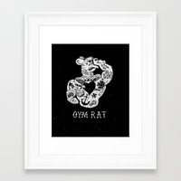 gym Framed Art Prints featuring Gym Rat by Textures
