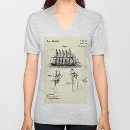 Ship's Rigging-1927 Unisex V-Neck
