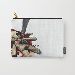 Sack Voodoo doll and bloody knife Carry-All Pouch
