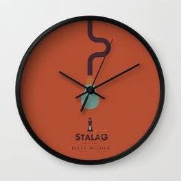 Stalag 17, Billy Wilder, minimal movie poster, alternative film playibill, old Hollywood, cinema Wall Clock