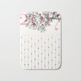 2017 Calendar - Lily Bath Mat