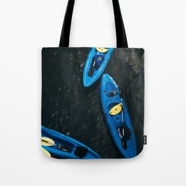 Kayaks From Above Tote Bag