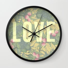 Love and Peaches Wall Clock