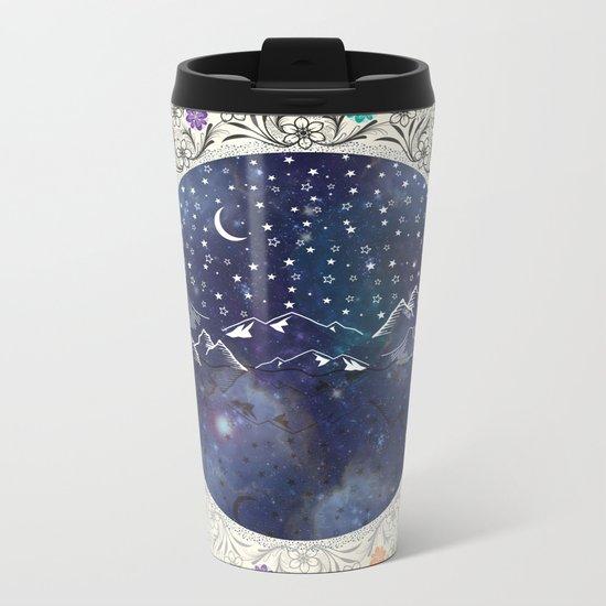 Beautiful starry night Metal Travel Mug
