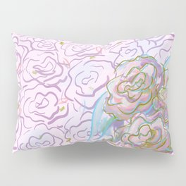 Rosy Floral Pillow Sham