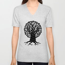 tree with circular branches Unisex V-Neck