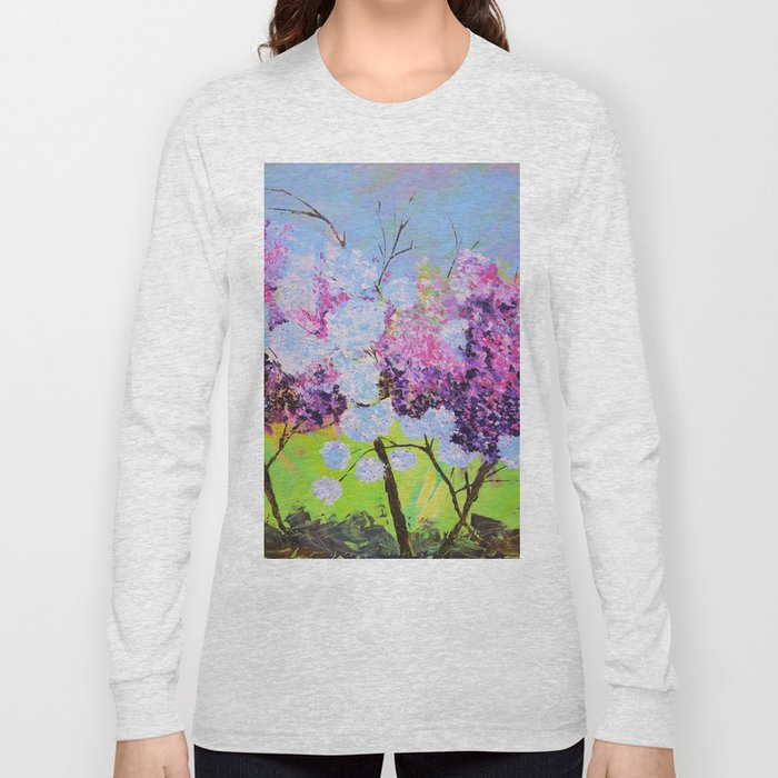 lilac painted Long Sleeve T-shirt