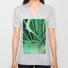 Re-Created Web of Lies8 by Robert S. Lee Unisex V-Neck