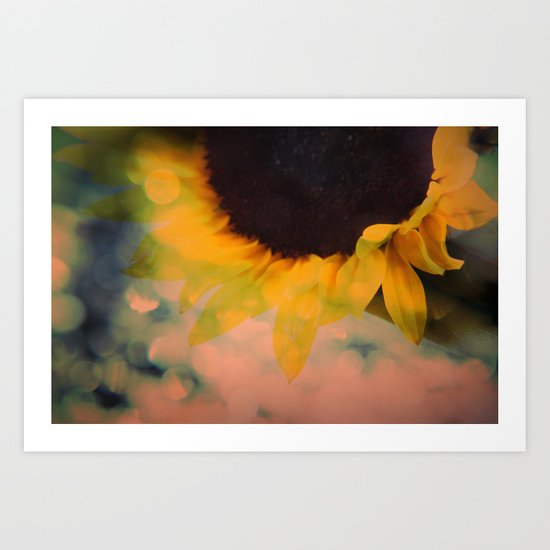 Sunflower II (mini series) Art Print