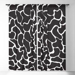 80s Memphis Cow Blackout Curtain
