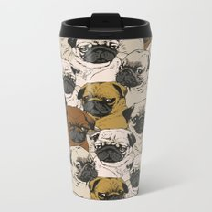 Social Pugz Metal Travel Mug