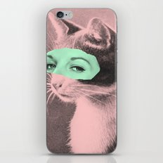 Indifferent Cat Woman iPhone & iPod Skin