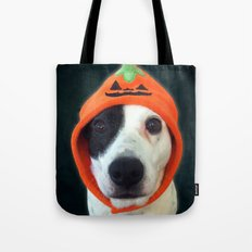 Pumpkin Dog Tote Bag