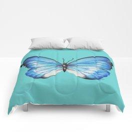 Blue Butterfly Comforters