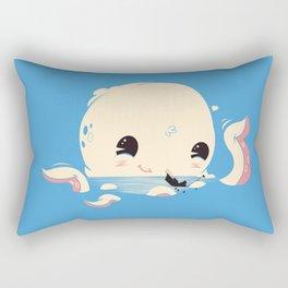 Adorable Octopus Battle (Bold) Rectangular Pillow
