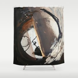 Midnight Falling: a bold, abstract, mixed media piece by Alyssa Hamilton Art Shower Curtain