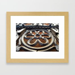 Iron Flower Framed Art Print
